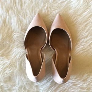 ASOS Wide Fit Light Pink Suede Pointed Heels